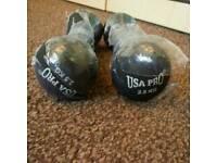 USA PRO 2.5 kg dumbells hand weights