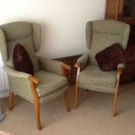 Two Upright Chairs