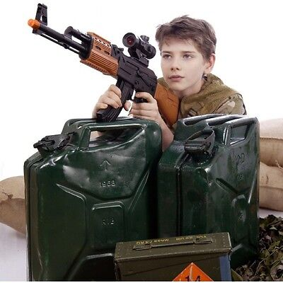 KIDS ARMY FORCE TOY GUN AK-47 WEAPON SOUNDS LIGHTS VIBRATION SOLDIER ROLE PLAY