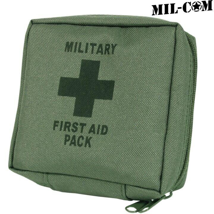 mil-com ARMY KIT PRIMO SOCCORSO SOPRAVVIVENZA Dressing benda forbici PIN CAMPING