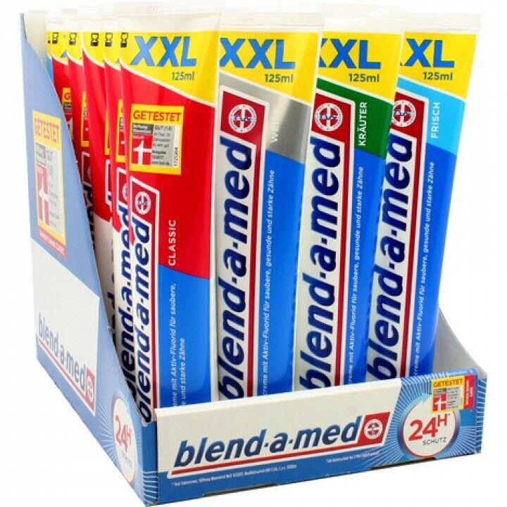 24* Blend-a-med Zahncreme XXL Mix  125ml  (24 * 125ml)