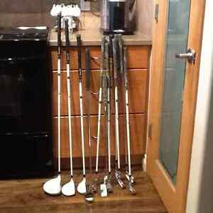 Ladies Wilson golf clubs and bag