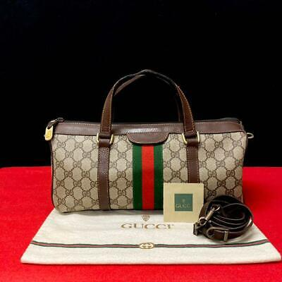 Gucci Vintage 70s Sherry Line 2 way Mini Boston Bag Rare Genuine Used FS from JP
