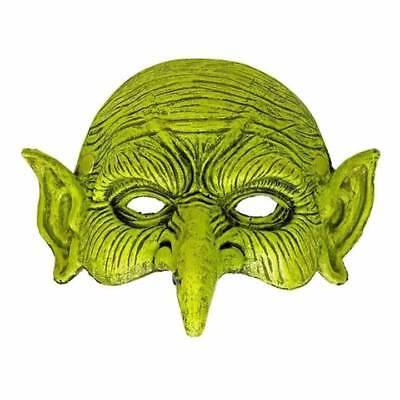 Halloween Grün Goblin Kobold Orc Larp Halbes Gesicht Schaum Maske Hexenmeister