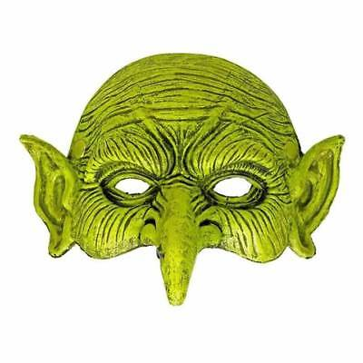 Halloween Green Goblin Sprite Orc Larp Half Face Foam Mask Sorcerer Fancy Dress](Orc Halloween Masks)