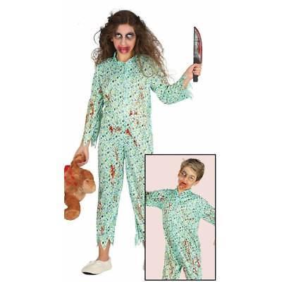 Girls Boys Zombie Pyjamas Bloody Undead Halloween Fancy Dress Pyjama Costume