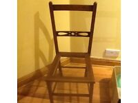 Arts and crafts vintage chair for upholstery / caning project