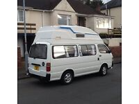 Toyota Hiace Diesel Campervan,4 berth,end kitchen,7 travelling seats,complete with awning,new MOT