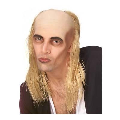 Blonde Hair With Bald Top Wig Rocky Horror Show Riff Raff Halloween Fancy Dress
