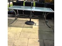 Large glass garden table