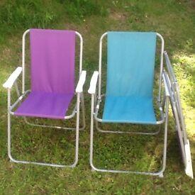 3x garden chairs