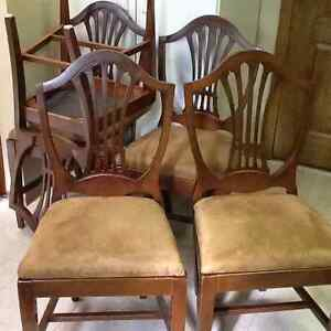 5 shield back chairs