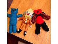 Hand knitted cuddly toys