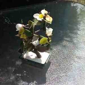Birks flower sculpture
