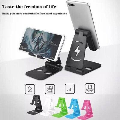 Universal Foldable Desktop Desk Stand Holder Mount For Cell Phone and Tablet Pad ()