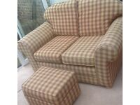 2 Seater sofa and matching footstool