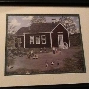 Framed picture - country schoolhouse