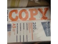 New 13 A5 packet of 200 pages paper
