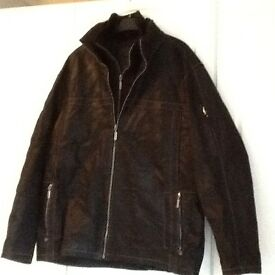 BEAUTIFUL MENS LARGE LEATHER JACKET,NEVER WORN,L@@K