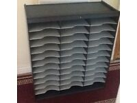 Office shelving unit x 2 vgc strong plastic shelving cost £180.00 width 67cm height 78cmhen new