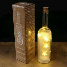 Christmas star Bottle With Led Lights