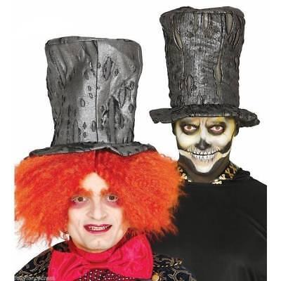 Sorcier Hutmacher Halloween Zylinderhut Zombie Undertaker Erwachsene Slash ()