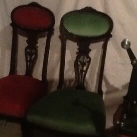 4antique dining chairs