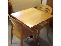 11 Wooden Tables and 35 Wooden Chairs