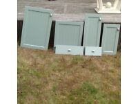 Set Of Sage Green Kitchen Doors and Draws fo Sale