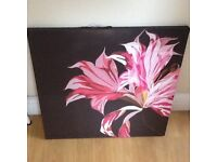 Canvas Picture of Pink Flowers