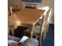 Dining table x chairs