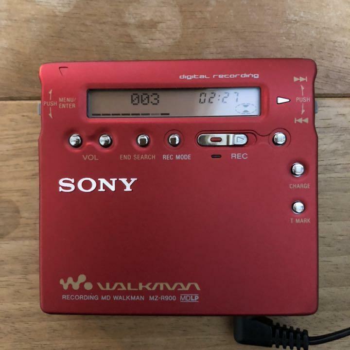 SONY Portable Mini Disc Recorder MD Walkman MZ-R900 MDLP RED