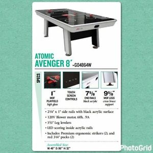 Avenger atomic air hockey table