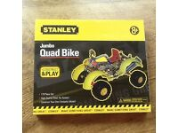 A STANLEY JUMBO QUAD BIKE TO CONSTRUCT & PLAY AGE 8+ A STEEL TECH SYSTEM TO BUILD 179 PIECE SET