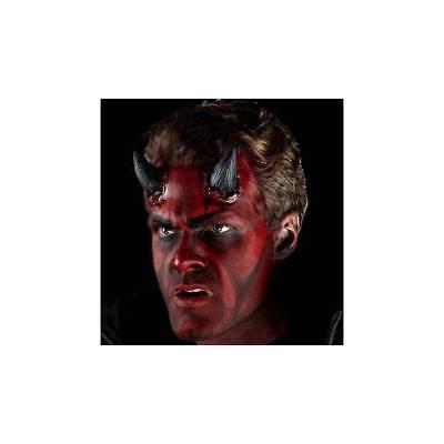 Black Realistic Devil Horns Prosthetic Make Up Fancy - Realistic Devil Horns