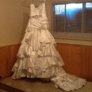 Wedding gown, never worn and bridemaids dresses