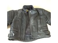 Motor Bike Leathers, Jacket and Trousers, black leather