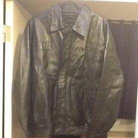 Thin leather jacket elasticated waist