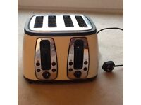 Russell Hobbs kettle and toaster cream matching set