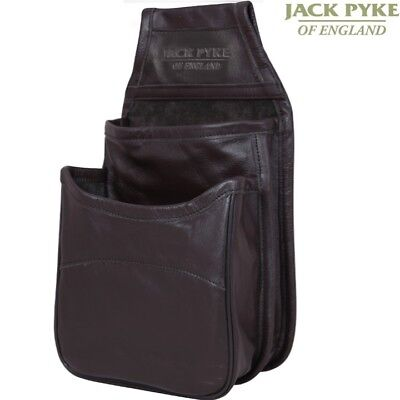 JACK PYKE BROWN LEATHER CARTRIDGE POUCH BAG HOLDS X50 CLAY SHOOTING HUNTING