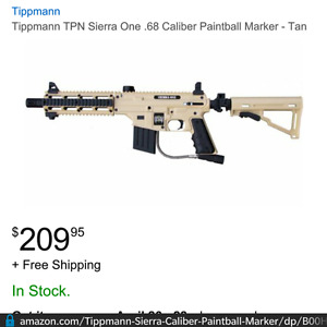 SIERRA ONE Tactical Paintball gun- brand new in Box Incl paint