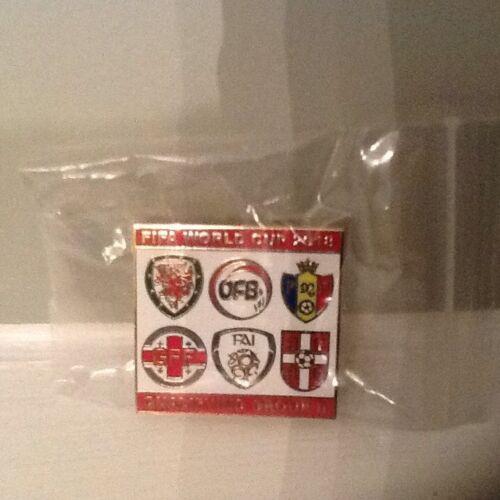 Wales FIFA World Cup 2018 Qualifying Enamel Badge (Red Version