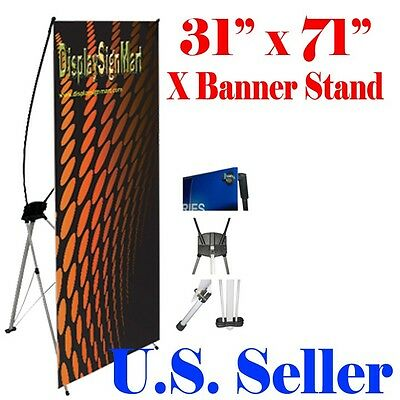 Medium X Banner Stand 31 X 73 W Free Bag Trade Show Display X-banner 80mm 180