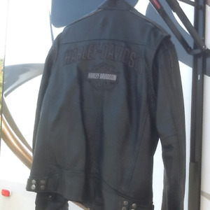 Harley Davidson black vented leather jacket