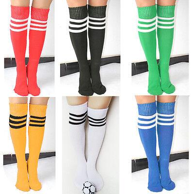 Sports Referee Over The Knee Stripe Thigh High Long Socks Ladies Boys Kids