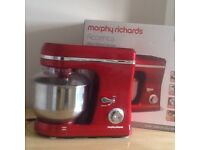 New Morphy Richards Accents Red Food Mixer.
