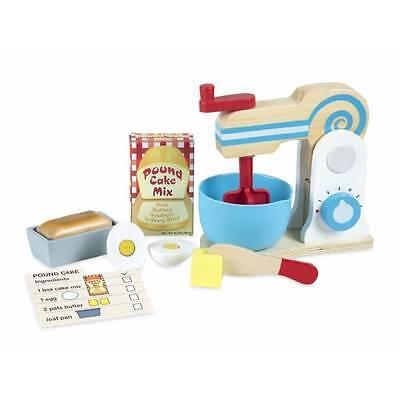 Melissa & Doug MAKE A CAKE MIXER Set Wooden Play Food Kitchen Toy x 11 Piece