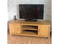 Next oak TV cabinet
