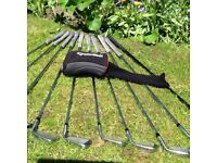 Mens Taylor made left hand golf clubs