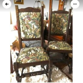 Tapestry dining room chairs